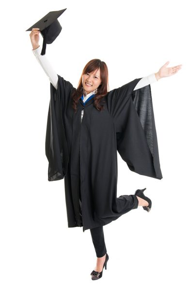Image of happy high school graduate.